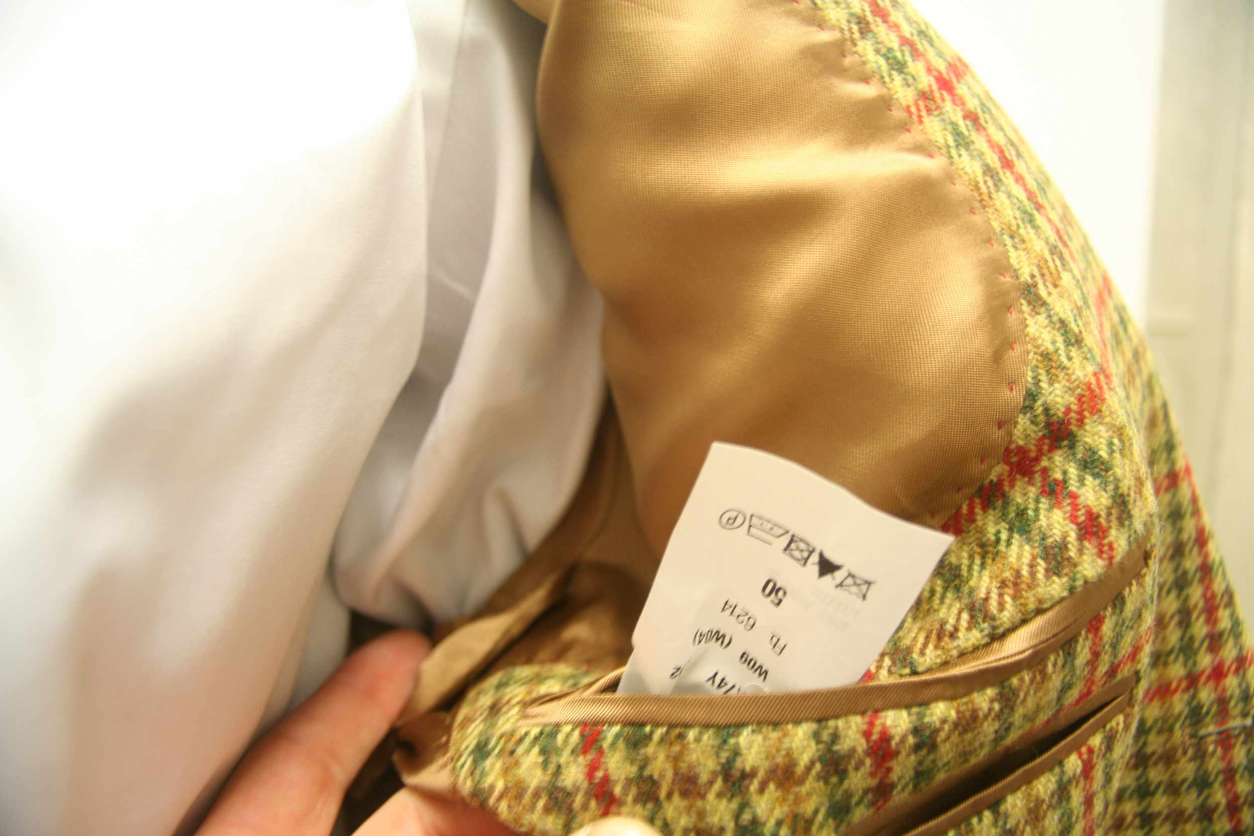 NEU John Hanly Tweed Sakko 100/% Schurwolle UVP 329€ mit Ärmel Patches Gr 50